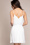 Fit-n-Flare Spaghetti Strap Dress Back