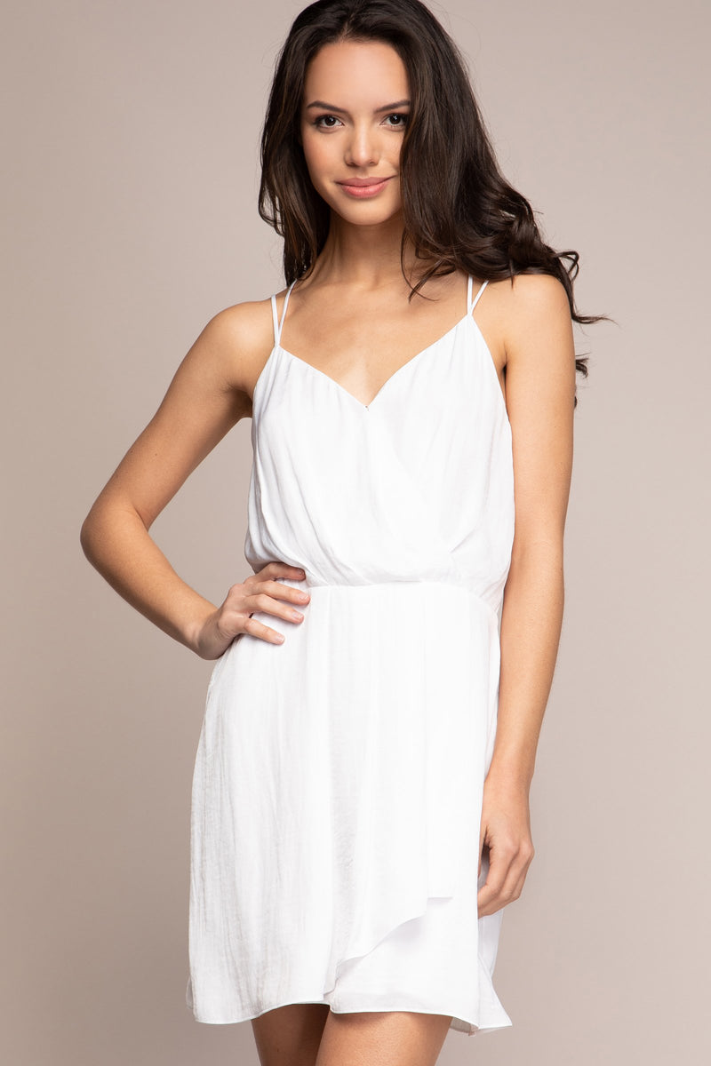 Fit-n-Flare Spaghetti Strap Dress Front
