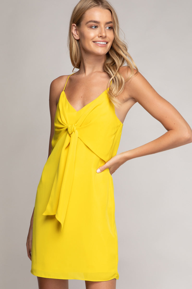 Tie Front Cami Dress in Sunshine