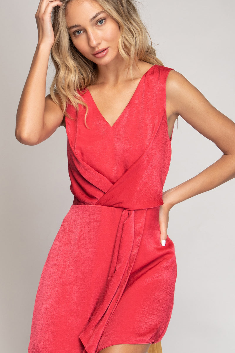 LAST CALL SIZE M | A-Line Wrap Dress in Punch
