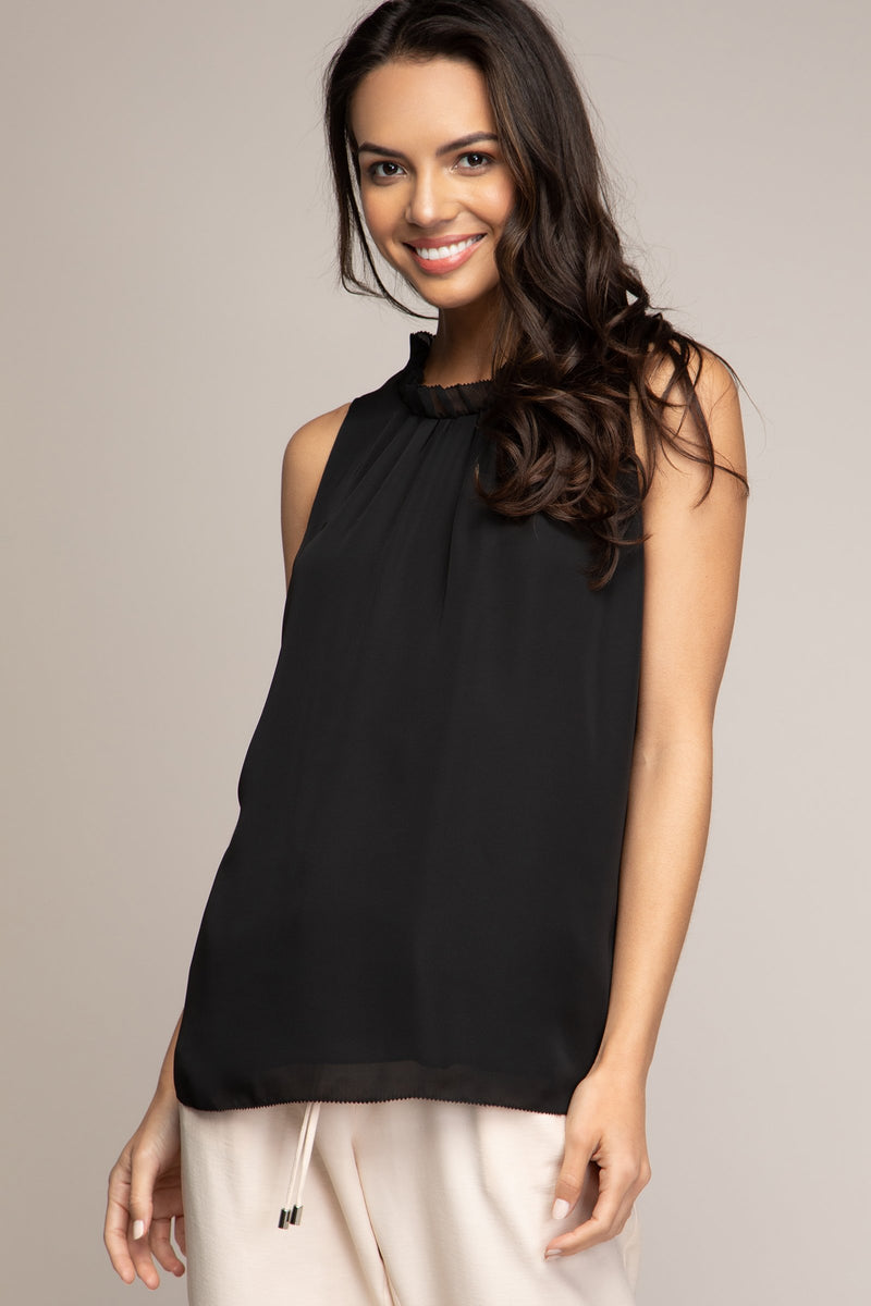 LAST CALL SIZE S | Ruffled Round Neck Blouse