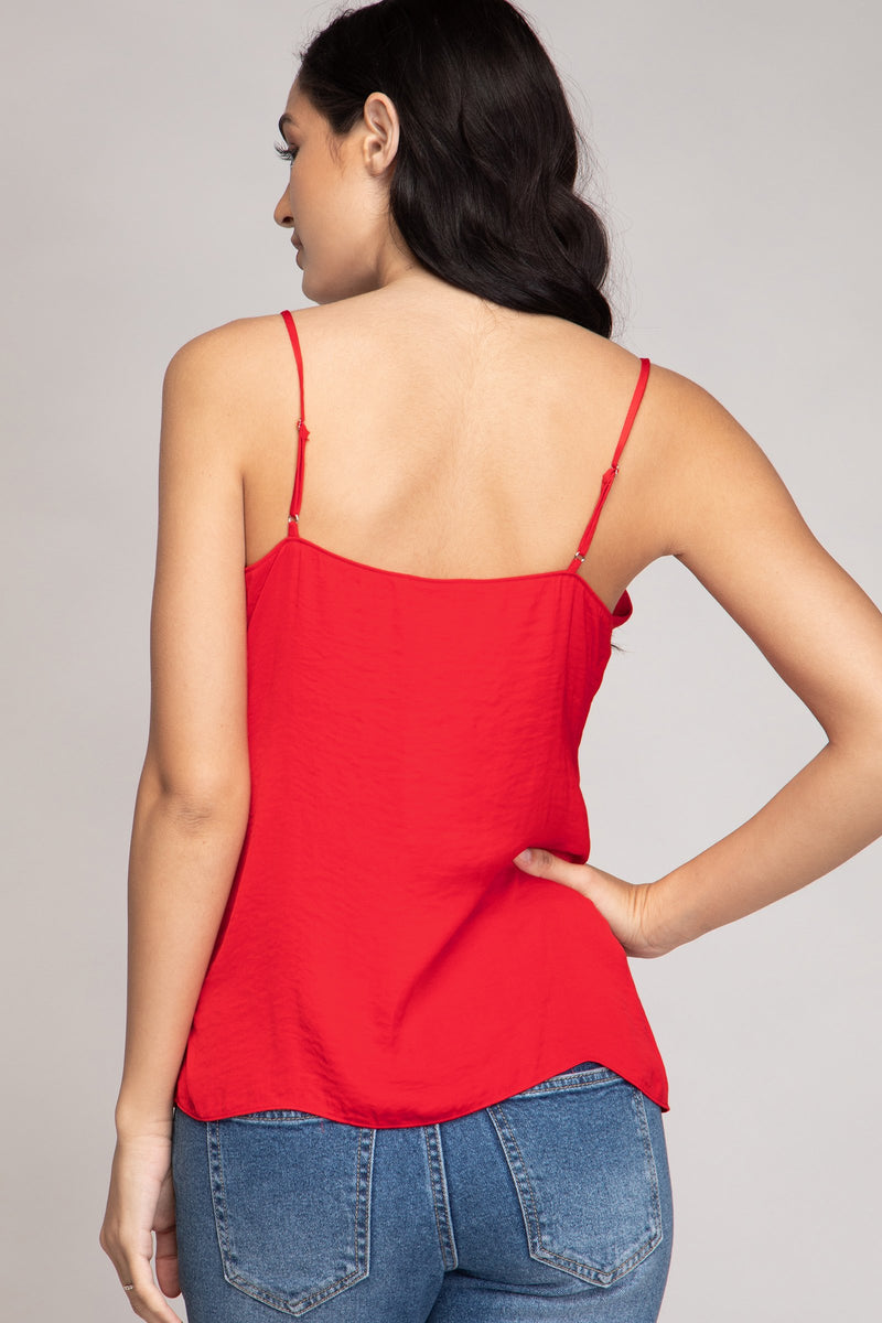 LAST CALL SIZE M | Twist Front Cami Top