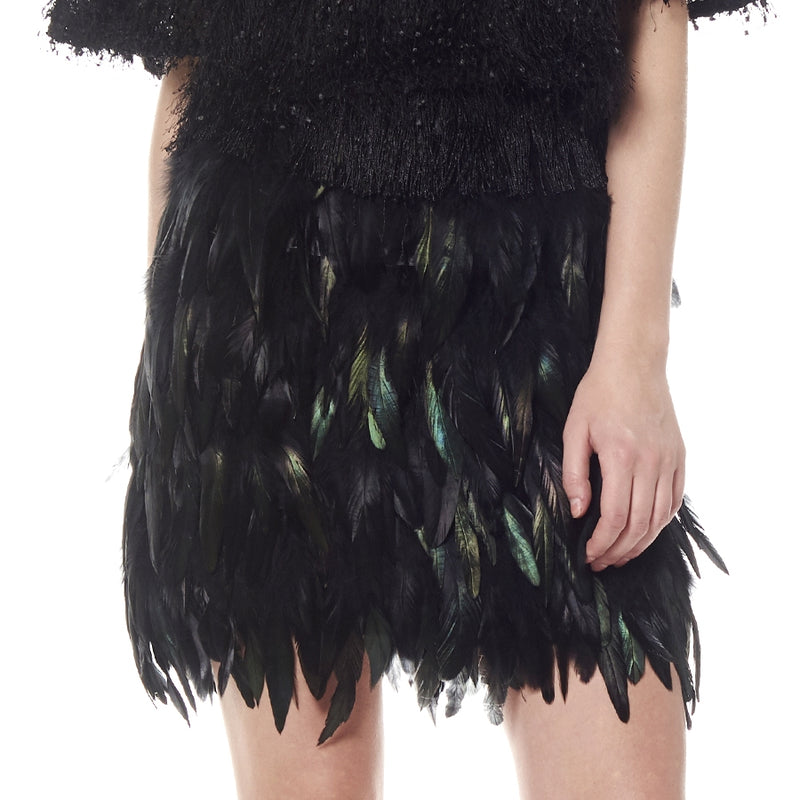 LAST CALL SIZE S | Iridescent Feather Skirt