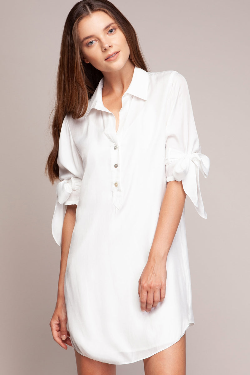 LAST CALL SIZE S | Shirt Dress with Tie Sleeves