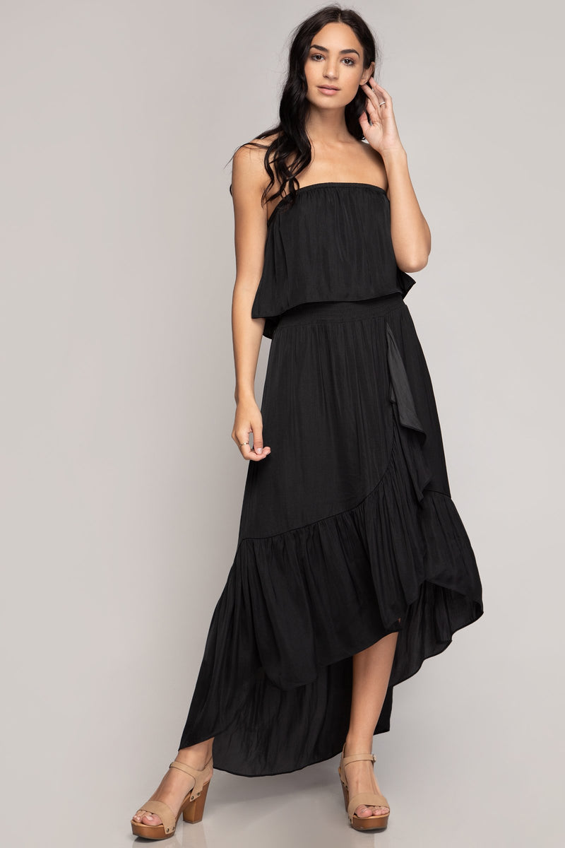 High Low Tiered Tube Dress