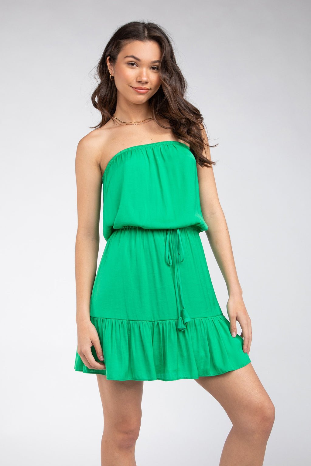 LAST CALL SIZE S | Tube Top Dress in Jade Green