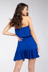 Tube Top Dress in Sapphire Blue