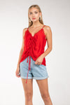 LAST CALL SIZE M | Lace Cami Top in Red