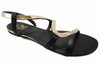 Metal Trim Sandal in Black