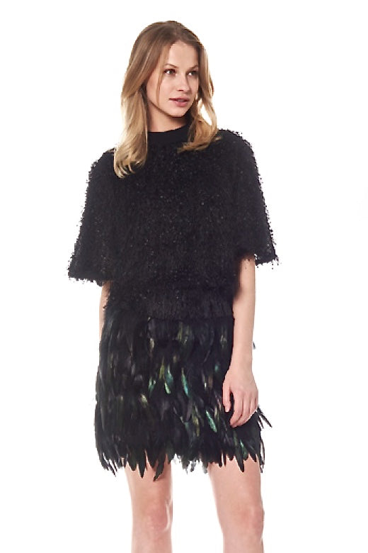 Iridescent Feather Skirt