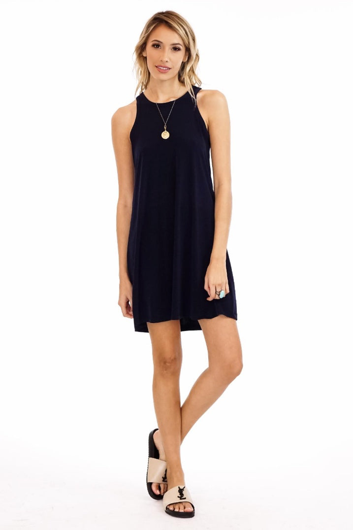 Navy Tank Shift Dress