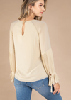 LAST CALL SIZE L | Pleated Long Bell Sleeve Blouse