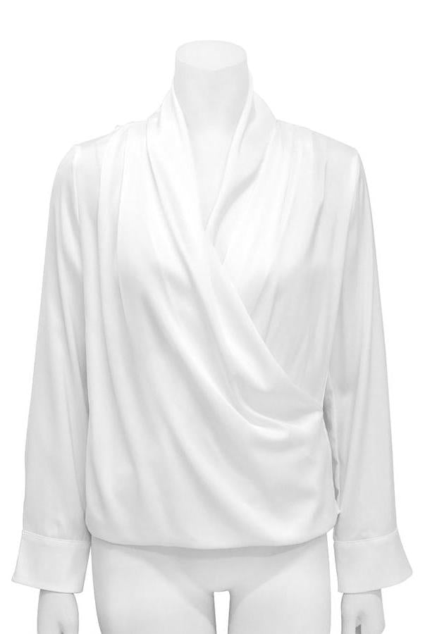 Draped Ivory Blouse