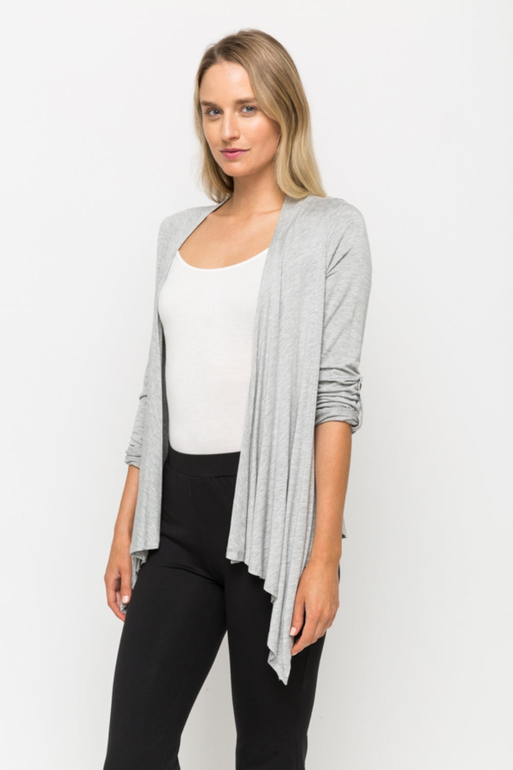 LAST CALL SIZE L | Shawl Cardigan in Heather Grey