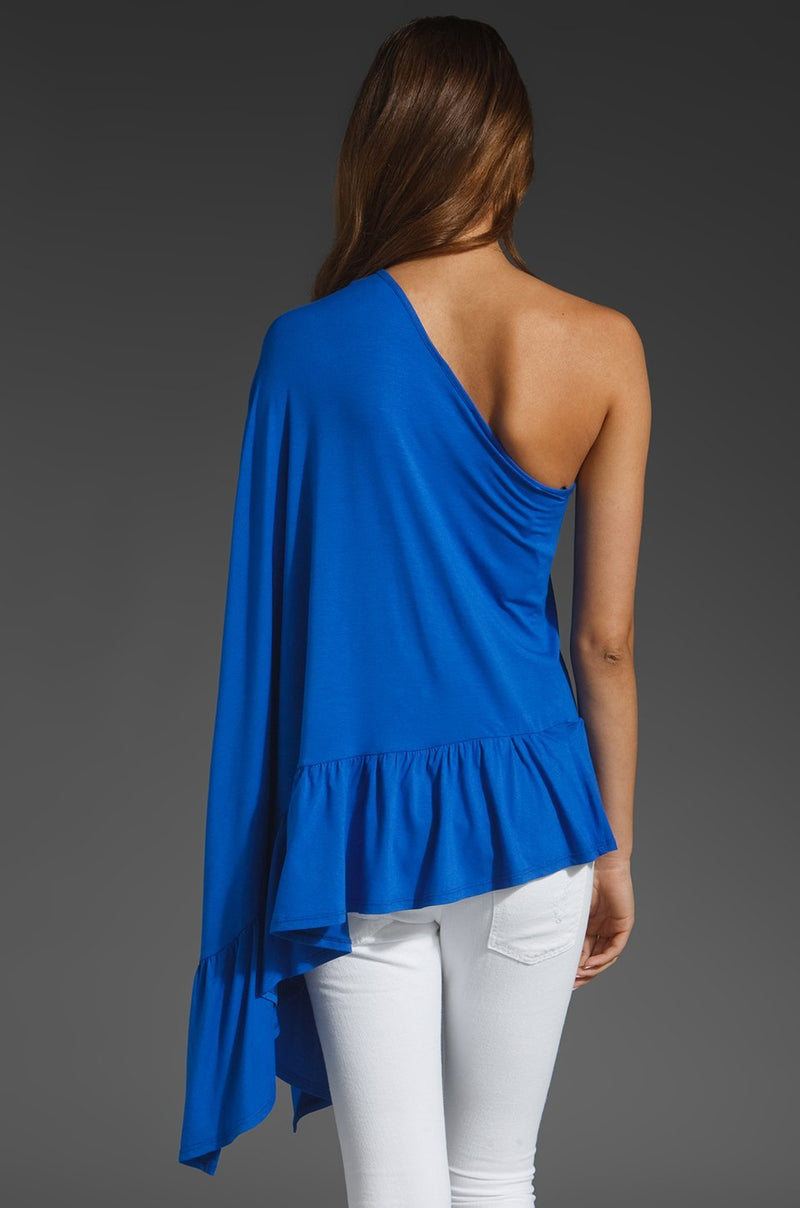 One Shoulder Poncho Royal Blue