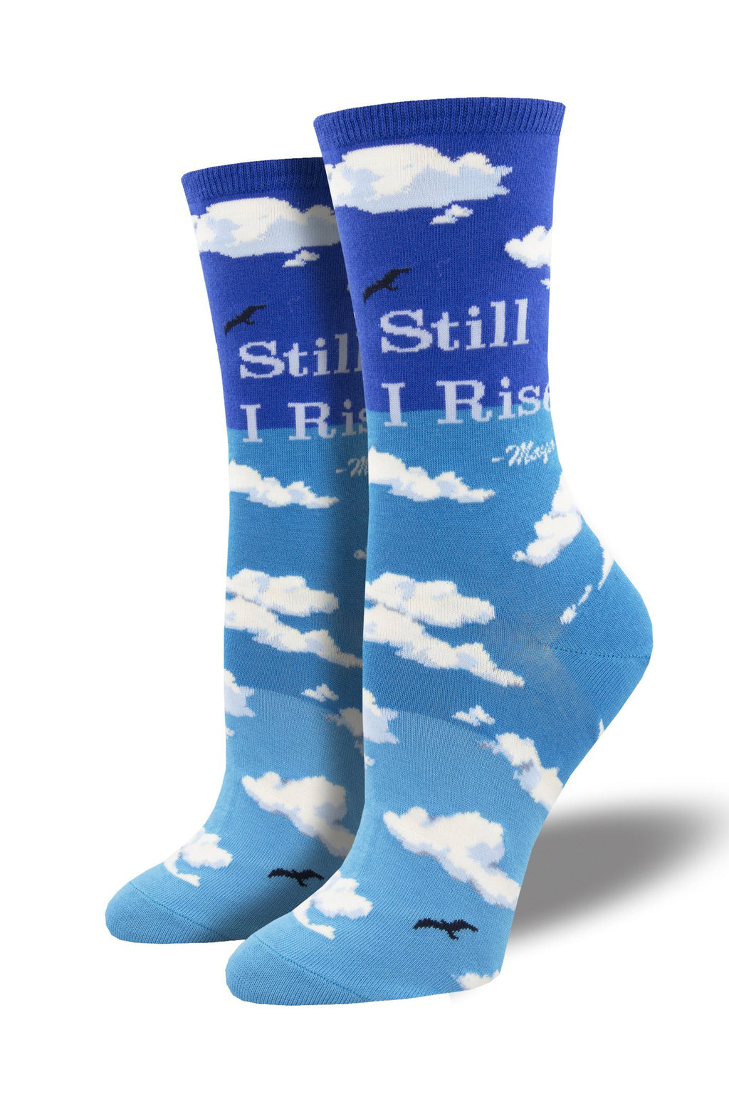 """Still I Rise"" Socks in Sky Blue"