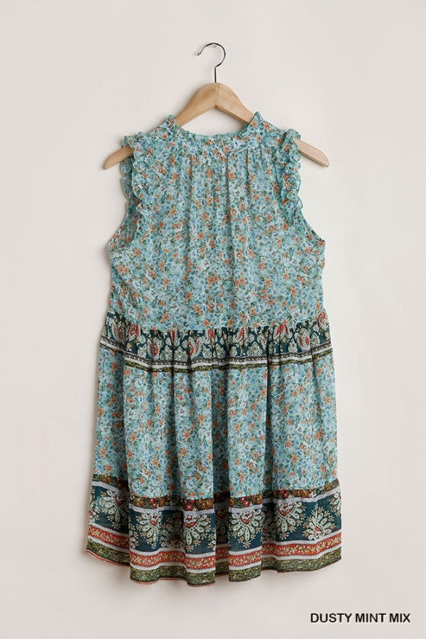 LAST CALL SIZE M | Sleeveless Bohemian Summer Dress in Mint Green