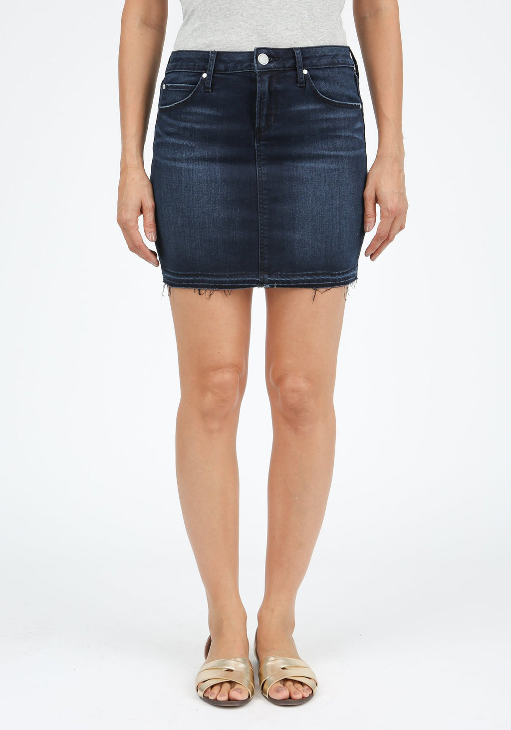 LAST CALL SIZE 25 | Release Hem Denim Skirt