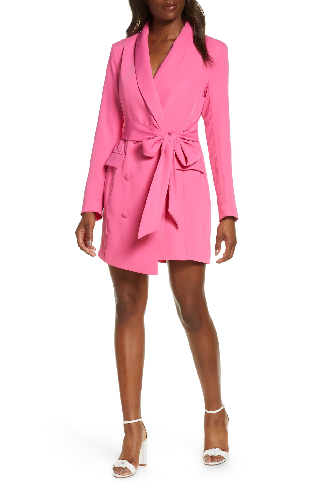 Ashtyn Jacket Dress in Pink