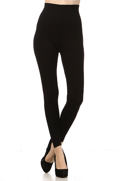 High Waist, Full Length Tummy Tuck Leggings in Black