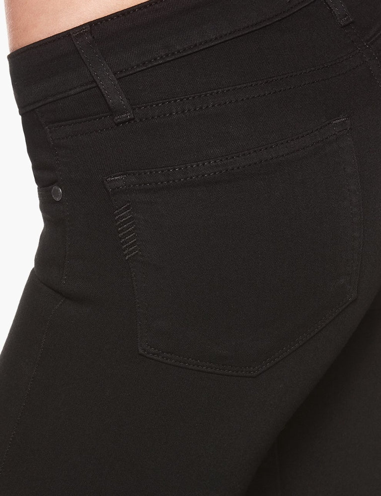 Black Overdye Cropped Midrise Denim Skinny Jeans Close Up