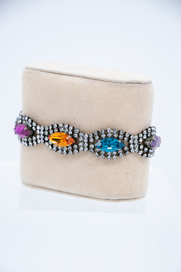 Multi Color Marquise Crystal Bracelet