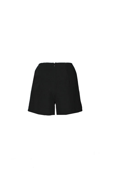 Front Panel Pleated Shorts Back
