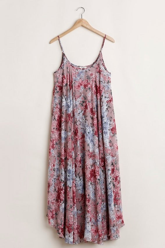 Floral Maxi Dress in Mauve