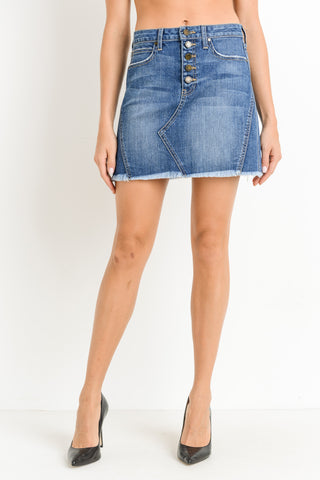 Just Black Denim Blue Jean Skirt