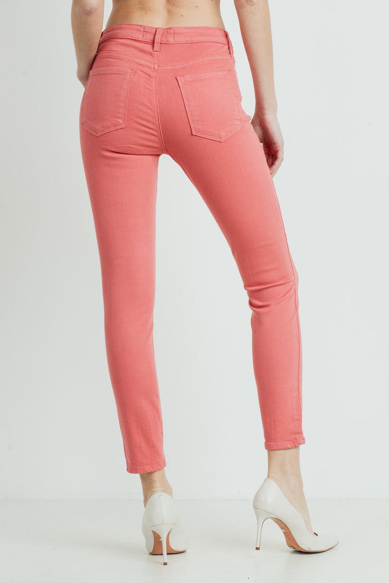 Classic Skinny Jeans in Strawberry Back
