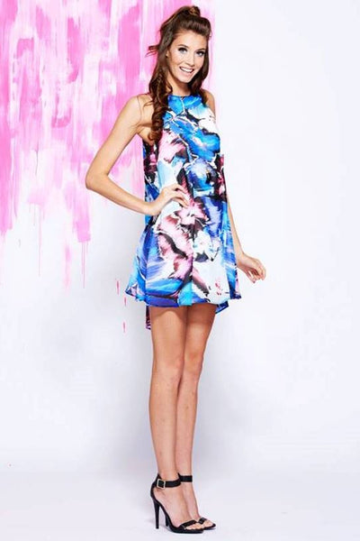 Watercolor Swing Dress