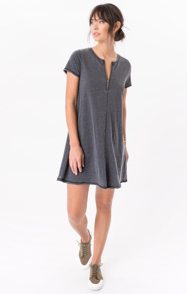Zip Up Swing Dress