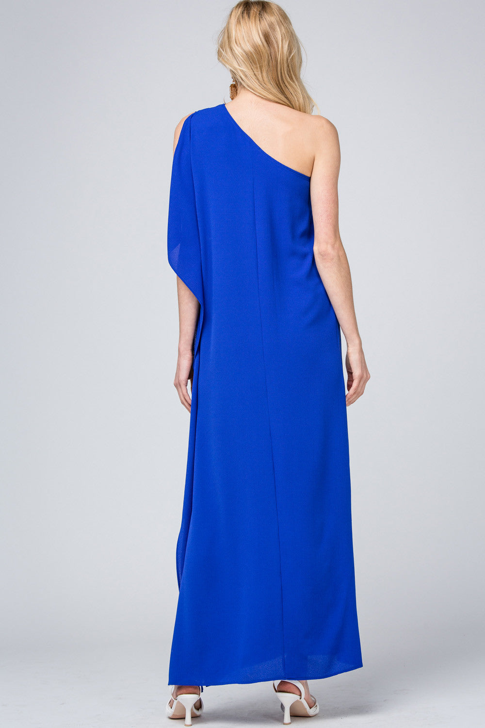LAST CALL SIZE L | One Shoulder Maxi Dress in Royal Blue