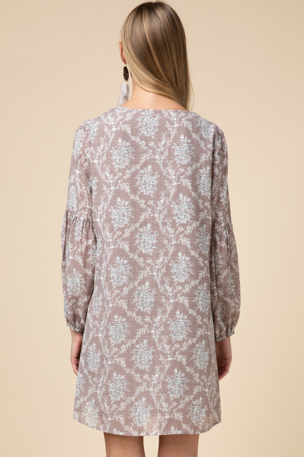 LAST CALL SIZE S | Ornate Floral Long Sleeve Dress