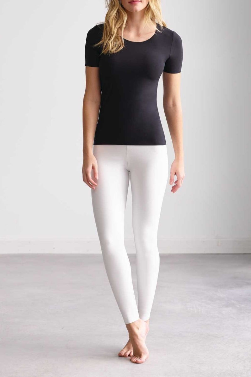 Faux Leather White Leggings