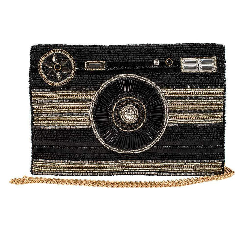 Camera Crossbody Beaded Bag
