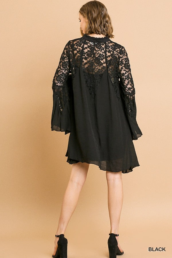 Black Lace Boho Dress