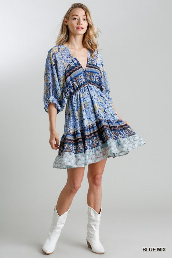 Floral Print Fit-n-Flare Dress