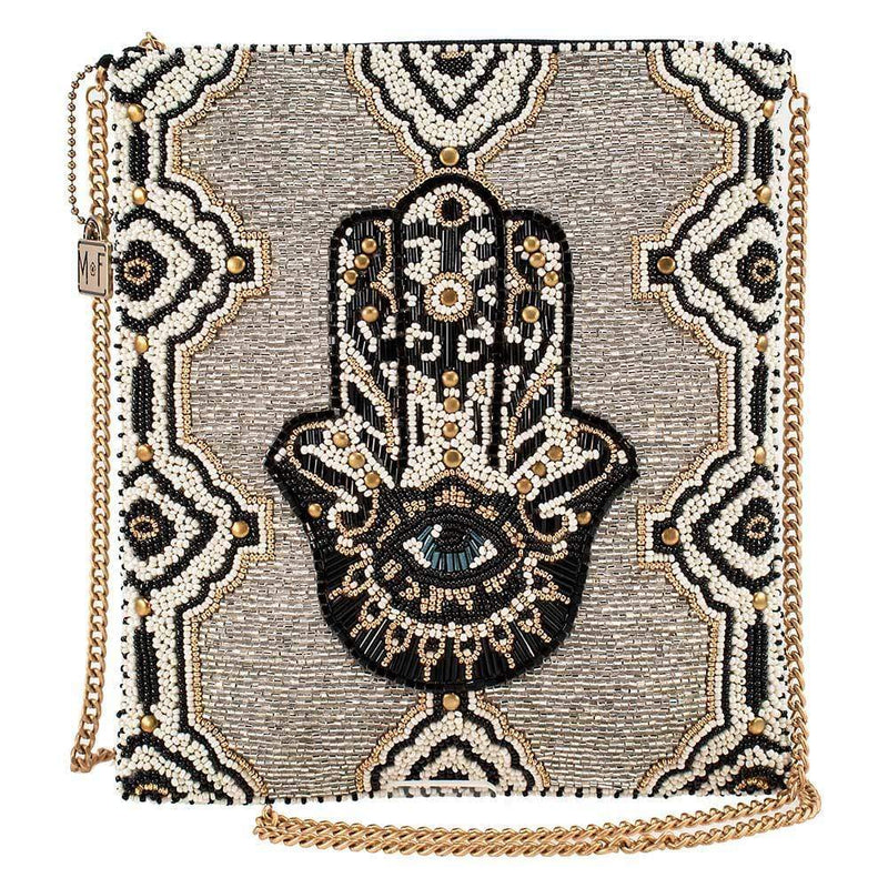 Hamsa/Evil Eye Beaded Bag
