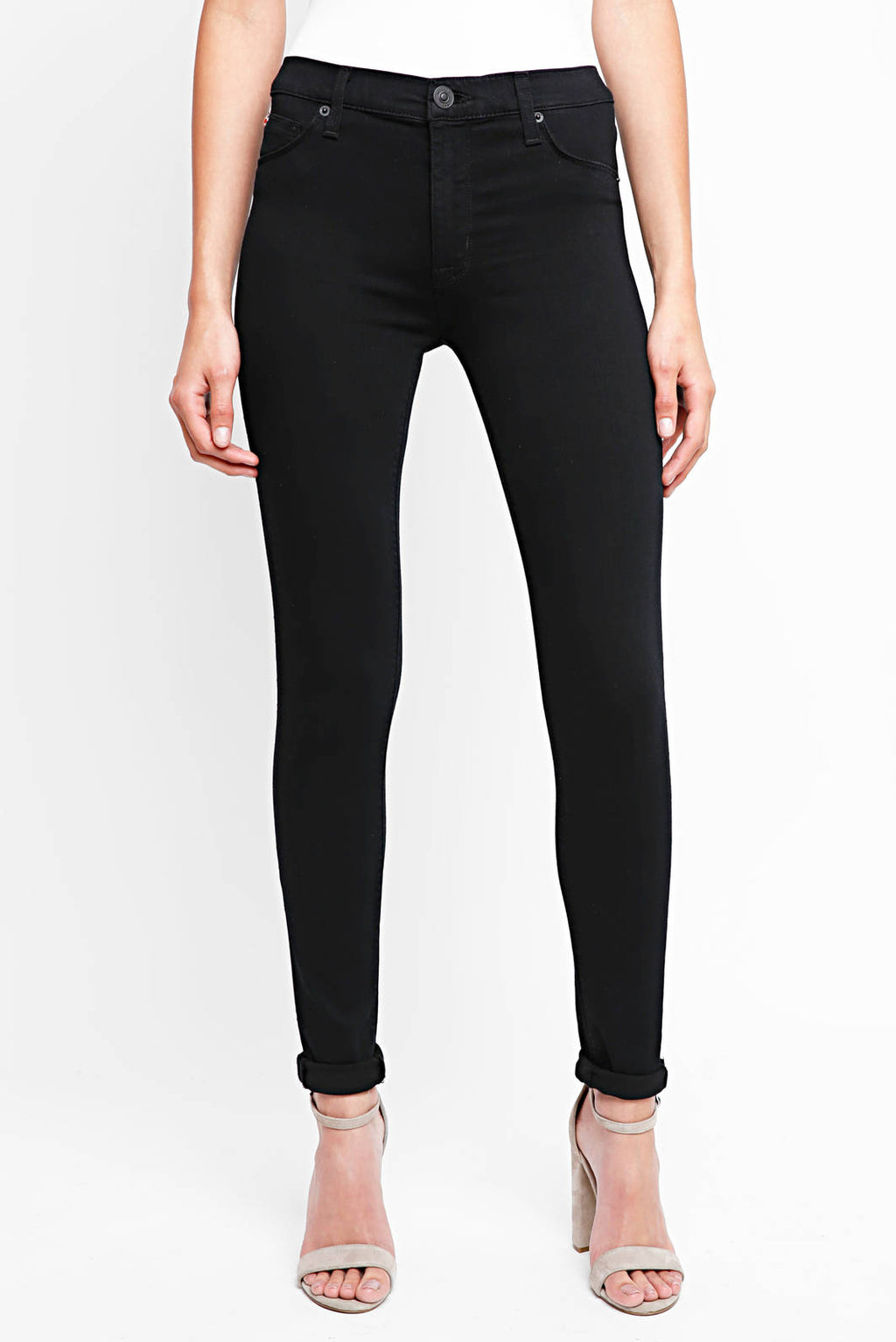 LAST CALL SIZE 25 | Midrise Super Skinny Denim in Black