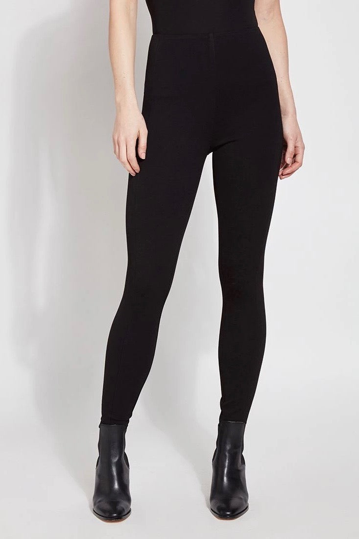 High-Waisted Structure Ponte Leggings in Black