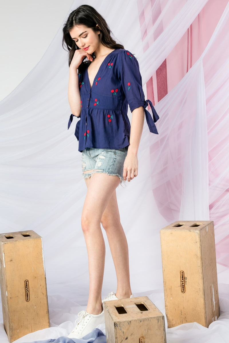 LAST CALL SIZE M | Cherry On Top Blouse