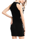LAST CALL SIZE L | Halter Neck Feather Velvet Dress