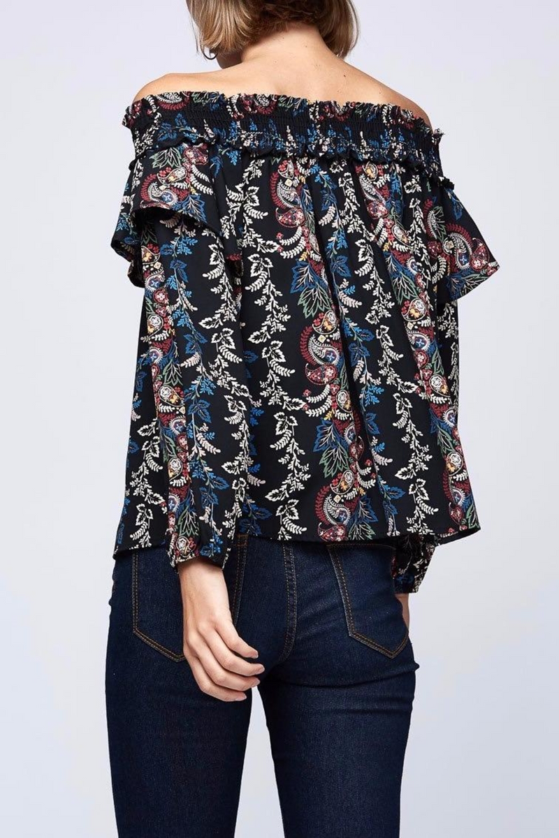LAST CALL SIZE S | Off The Shoulder Multi-Color Floral Top