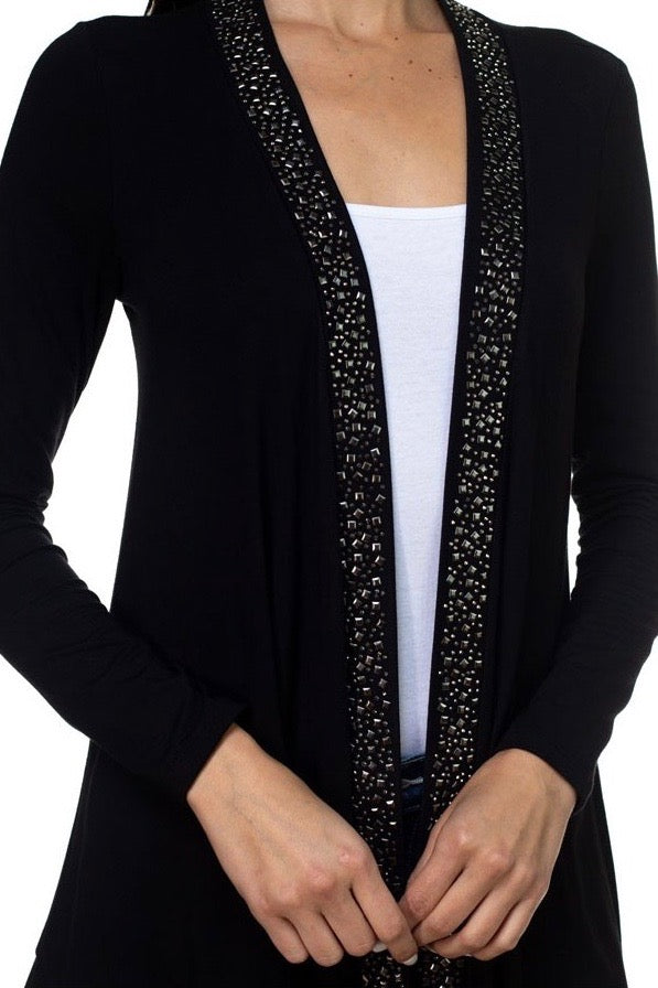 Studded High Low Cardigan Jacket