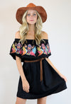 LAST CALL SIZE L | Boho Embroidered Off The Shoulder Dress