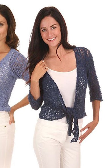 Tie Front Open Knit Cardigan - 4 Colors Available!