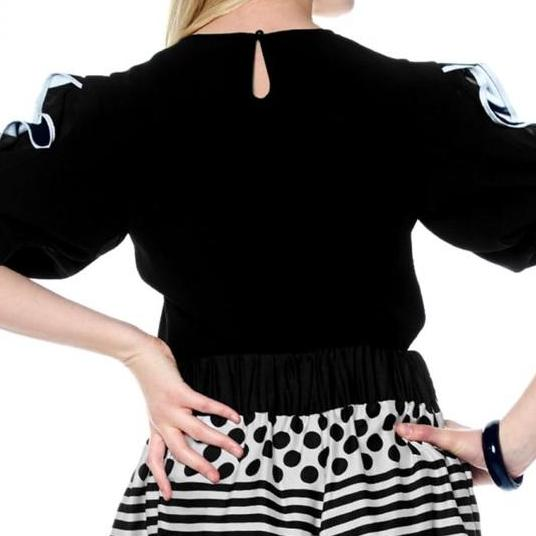 LAST CALL SIZE S | Black Ruffle Sleeve Top