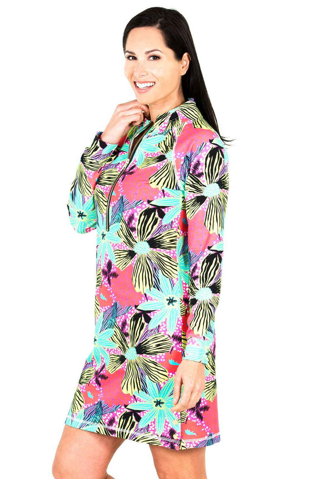 Zip-Up Floral Bloom Dress