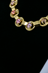 Crystal Gold Link Necklace close up